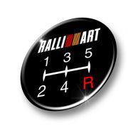 Wheel Badges in 3D Domed Gel to fit RALLIART GEAR STICK Badge