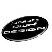 Wheel Badges in 3D Domed Gel to fit CUSTOM Contourcut Shaped Stickers Decals SINGLES